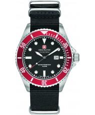 Swiss Military 6-4279-04-007-04 Para hombre león marino de nylon negro reloj de la correa