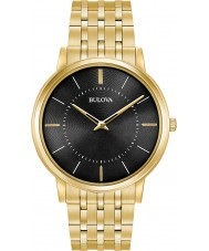 Bulova 97A127 Para hombre de ultra delgada de oro plateado reloj pulsera