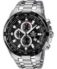 Casio EF-539D-1AVEF Mens edificio reloj cronógrafo de plata negro