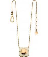 Orla Kiely N4022 Señoras de 18 quilates en cadena crema flor de oro colgante collar