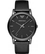 Emporio Armani AR1732 Reloj para hombre de la correa de cuero negro clásico