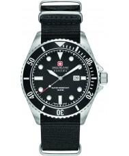 Swiss Military 6-4279-04-007-07 Para hombre león marino de nylon negro reloj de la correa