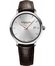 Raymond Weil 5488-SL5-65001 reloj de la correa de cuero marrón para hombre tocata