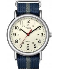 Timex T2N654 Mens azul deslizamiento de fin de semana a través de reloj gris