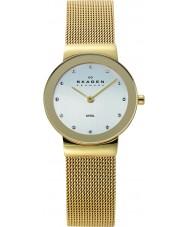 Skagen 358SGGD Damas klassik reloj de malla de oro blanco