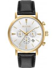 Bulova 97B155 reloj cronógrafo para hombre negro de oro Aerojet