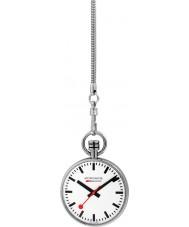 Mondaine A660-30316-11SBB Mens specials reloj de bolsillo de plata con cadena