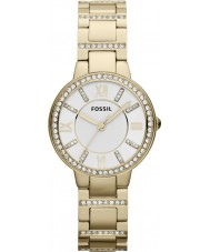 Fossil ES3283 Las señoras Virginia oro plateado reloj pulsera