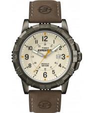 Timex T49990 Reloj para hombre de campo robusto expedición marrón