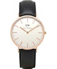 Daniel Wellington DW00100007 Mens clásico Sheffield 40mm reloj de oro rosa