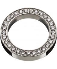 Edblad 78841 Damas cuadrado de acero anillo de la eternidad - el tamaño s (XL)