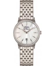 Rotary LB90050-41 Damas les originales reloj de acero Kensington