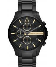 Armani Exchange AX2164 Todo el reloj cronógrafo vestido de negro de los hombres