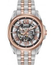 Bulova 98A166 Mens automático de dos tonos rosa reloj pulsera
