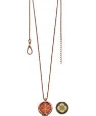 Orla Kiely N4019 18 quilates damas Camille levantó collar de oro reversibles