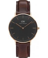Daniel Wellington DW00100137 Reloj clásico negro 36mm Bristol
