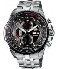 Casio EF-558D-1AVEF reloj cronógrafo de acero negro para hombre del edificio