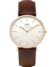 Daniel Wellington DW00100009 Mens clásico 40mm Bristol rosa reloj de oro