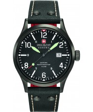 Swiss Military 6-4280-13-007-07 Reloj para hombre de la correa de cuero negro encubierto