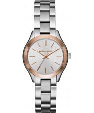 Michael Kors MK3514 Las señoras mini reloj de acero de plata delgada pista
