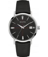 Bulova 96B243 Reloj para hombre de la correa de cuero negro Aerojet