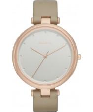 Skagen SKW2484 reloj de la correa de cuero de las señoras de avena Tanja
