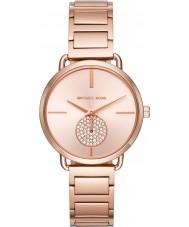 Michael Kors MK3640 Señoras portia aumentaron reloj pulsera chapado en oro