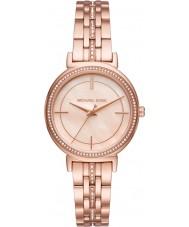 Michael Kors MK3643 Cinthia señoras se levantaron reloj pulsera chapado en oro