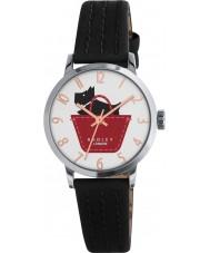 Radley RY2345 Las señoras bordean reloj de la correa de cuero negro y ocre