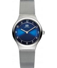 Danish Design V69Q1072 Las señoras reloj pulsera de malla de acero de plata
