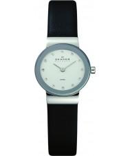 Skagen 358XSSLBC Damas klassik reloj de la correa de cuero negro