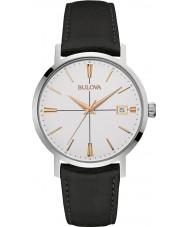 Bulova 98B254 Reloj para hombre de la correa de cuero negro Aerojet