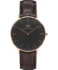 Daniel Wellington DW00100140 reloj de 36 mm york negro clásico