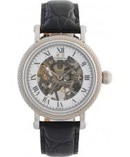 Krug-Baumen 60112DM el prestigio de cuero para hombre negro reloj de la correa