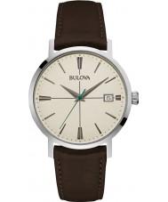 Bulova 96B242 Reloj para hombre de la correa de cuero marrón Aerojet