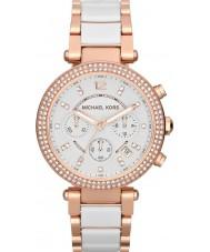 Michael Kors MK5774 Damas Parker reloj cronógrafo de cerámica de dos tonos