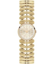 Orla Kiely OK4022 Señoras de laurel de oro Hamilton reloj chapado