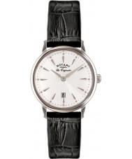 Rotary LS90050-02 Damas les originales reloj de la correa de cuero negro Kensington