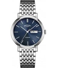 Rotary GB05300-05 reloj de acero del tono plateado para hombre relojes Windsor