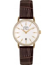Rotary LS90054-01 Damas les originales reloj de la correa de cuero marrón Kensington