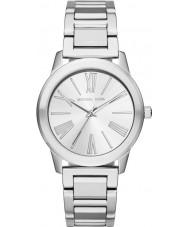 Michael Kors MK3489 Las señoras de plata Hartman reloj de pulsera de acero