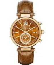 Michael Kors MK2424 Damas aserrador reloj cronógrafo de la correa de cuero de whisky