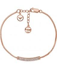 Emporio Armani EG3260221 Damas Stelle pavimenta pura rosa de oro pulsera de plata esterlina