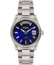 Rotary GB02660-05 Mens relojes Habana reloj de plata azul