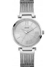 Guess W0638L1 Damas soho reloj de plata brazalete de acero