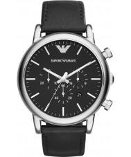 Emporio Armani AR1828 Reloj para hombre negro clásico cronógrafo