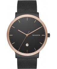 Skagen SKW6296 Reloj para hombre de malla de acero negro ancher