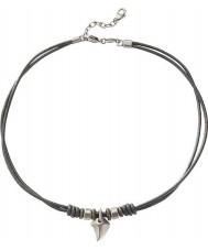 Fossil JF85832040 Mens collar de cuero negro ocasional