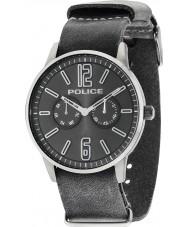 Police 14766JSU-61 Mens Esquire x reloj de la correa de cuero gris