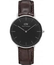 Daniel Wellington DW00100146 reloj de 36 mm york negro clásico